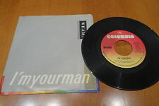 """Wham 7"""" 45rpm I'm Your Man Right Canada press Ps Nm Rock M 80 Rip George Michael"""