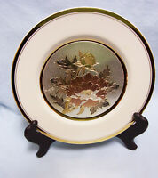 DECORATIVE PLATE: Lacy KC 350 Keito Sensitive Art of Chokin Gold Trim Plate  A-2
