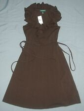 NEW Lauren by Ralph Lauren Sleeveless Brown Woman Dress Sz S (Small)  Ret $119