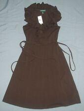 NEW Lauren by Ralph Lauren Sleeveless Brown Woman Dress Sz S (Small)  Ret $119