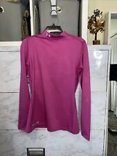Woman Under Armour Mock Cold Gear Compression Shirt Size Xtra Large Pink