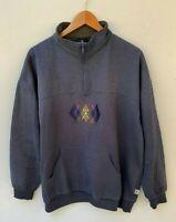BONDS men's retro vintage blue penguin embroidered logo jumper size 22 / 2XL