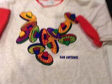 VTG 90s Alore San Antonio, Texas Sombrero Double Sleeve T Shirt SZ M/L - Cool