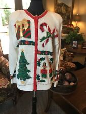 Marisa Christina hand knit Christmas sweater