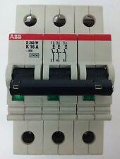 Abb, S283-K16A, Circuit Breaker, 3P, 277/480Vac,Max 254/440, 16A, No Screws, New