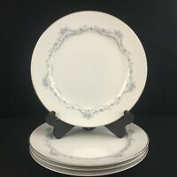 Set of 4 VTG Dinner Plates by Mikasa Chadsworth Jyoto Blue Floral 8273 Japan