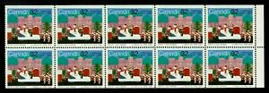CANADA #1070a 32c BOOKLET PANE/10, 1985 SANTA CLAUS PARADE, MNH