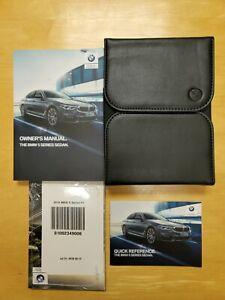 Genuine OEM 2019 BMW 5 Series Owners Manual Set w/ Official Premium BMW Wallet