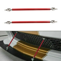 Universal Adjustable Red Bumper Lip Splitter Strut Rod Tie Support Bars Spoiler