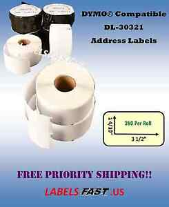 30321 DYMO® LabelWriter® Compatible Large Address Labels - LOWEST PRICES ON EBAY