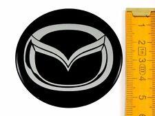 MAZDA ★ 4 Stück ★ SILIKON Ø55mm Aufkleber Emblem Felgenaufkleber Radkappen