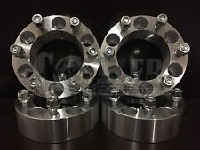 """4 X WHEEL SPACERS 6x5.5 To 6x5.5 (6X139.7) 108MM CB 12X1.5 STUDS 2"""" Thick"""