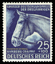 EBS Germany 1941 Blue Ribbon Horse Race - Blaues Band - Michel 779 MH*
