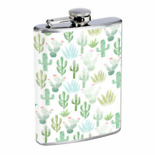 Cactus Em1 Flask 8oz Stainless Steel Hip Drinking Whiskey