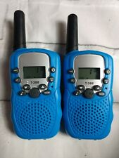 T-388 Blue Walkie Talkie Radio with flash light
