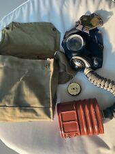 More details for ww2 1942 british gas mask + bag + demister