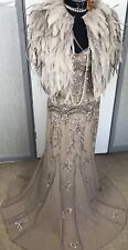 Bnwt Maya Asos Red Carpet Vintage Maxi Flapper Evening Gown Dress Gatsby Sequin