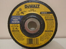 "10 X 125mm - 5"" DEWALT GRINDING DISC'S. 6mm THICK X 22mm BORE."