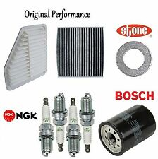 Tune Up KIT Cabin Air Oil Filters Spark Plugs for Toyota Corolla XRS; 2.4L 09-10