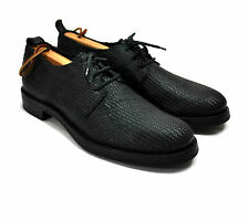 NWOB Ann Demeulemeester Basketweave Derby Shoes 40 8.5 / 9 Black Woven Leather