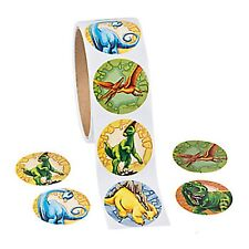 DINOSAUR PARTY Stickers T Rex Stegosaurus Party Favours Pack of 50 Free Postage