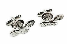 DRONE Remote Control RC Airplane Helicopter Work Suit Cufflinks Cuff Links Set