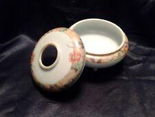 Vintage Hand Painted Nippon Footed Vanity Hair Receiver/ Trinket Dish
