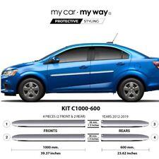 (Fits) Chevrolet Sonic Sedan 2012-2019 Chrome Body Side Molding Cover Trim Door