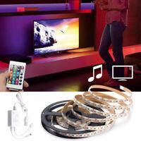 2/3/4M 5050 LED RGB Strip Light Kit USB Music Sound Activated IP65 + Remote