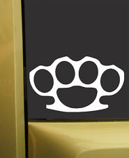 Brass Knuckles JDM Vinyl Sticker Decal NOT METAL - Choose Size and Color