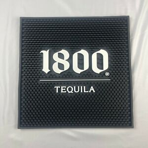 "BRAND NEW 1800 TEQUILA black & white 15"" x 15"" BAR SPILL MAT"