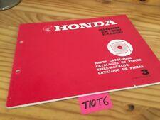 Générateur Honda parts list EX1900 EX2000 EX 1900 2000 catalogue pièce détachée