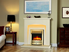 Endeavour Fires New Cayton Electric Fireplace Suite, Brass Trim and Fret