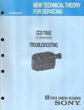 Sony Original Service Manual troubleshooting per CCD-TR 55e video 8