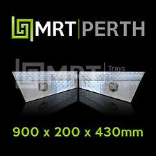 ALUMINIUM PAIR OF 4X4 TOOLBOXES UNDER BODY 900mm TOOL BOX UNDER TRAY 4WD MRT2CS