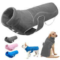 Reflective Dog Vest Coat Jacket Small Large Winter Warm Clothes Bulldog Labrador