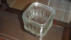 VTG REFRIGERATOR GENERAL ELECTRIC PRESS GLASS BUTTER CASE BOX MADE IN USA