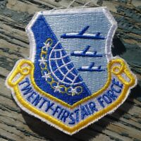 21st Twenty First Air Force US Military Shield Patch McGuire AFB, New Jersey