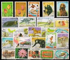 AFGHANISTAN 25 Different Large Thematic Flora & Fauna Used & Mint Genuine Stamps
