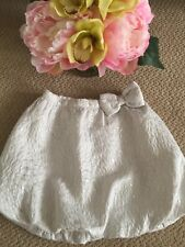 NWT Baby Gap 3T White Silver Bubble Skirt