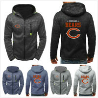 Chicago Bears Hoodie Men's Sweatshirts Football Hooded Jacket Coat Gifts to Fans