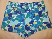 Gymboree Mix N Match Blue Flower Floral Knit Shorts Size M Medium 7-8 7 8