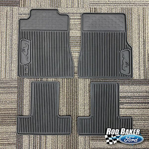 05 06 07 08 09 Ford Mustang OEM Black Rubber All Weather Floor Mat Set w/ Logo