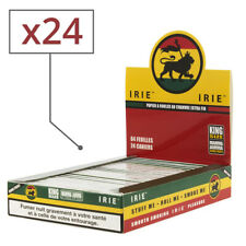 Boite de 24 carnets de feuilles Slim IRIE Pur chanvre King Size
