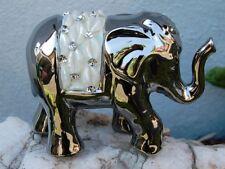 Elefant  Cristallo silber mit Muscheln und Steinchen  Neu