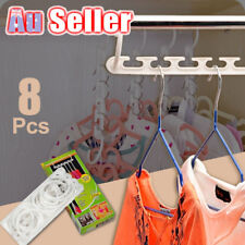 8x Space Saver Clothing Coat Clothes Magic Hanger Hooks Closet Organizer Storage
