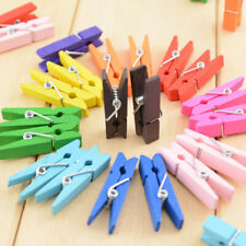 100Pcs Wooden Paper Hanging Clips Min Clothespin Clips Photo Picture Cable Clip