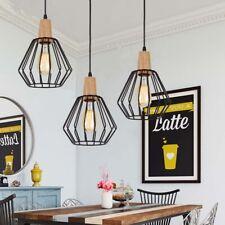 3X Black Kitchen Pendant Light Vintage Chandelier Lighting Bar Ceiling Lights