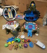 Vintage Mini Mutants Lot TMNT Micro Playset Ninja Turtles Action Figures