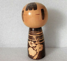 "Japanese kokeshi doll wooden figurine ornament 5"" oriental wood folk art figure"